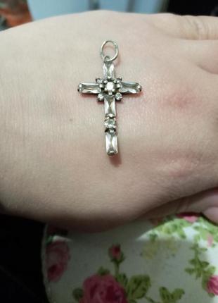 Серебро крестик