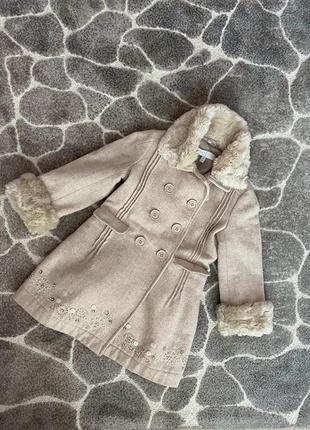 Красивейшее шерстяное пальто monsoon 3-4 года