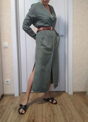 Minimum плащ пальто демисезон хаки из вискозы