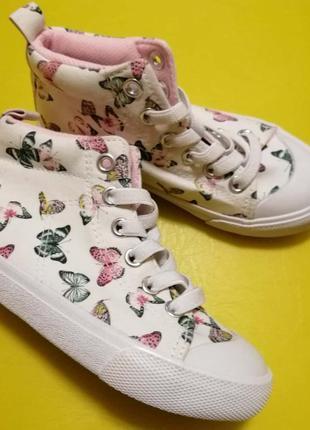 Хайтопы h&m ботинки с бабочками
