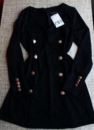 Новое,платье,плаття, сукня, черное, пуговицы, пиджак,черное