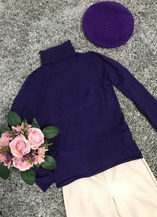 Комплект гольф +берет фіолетовий