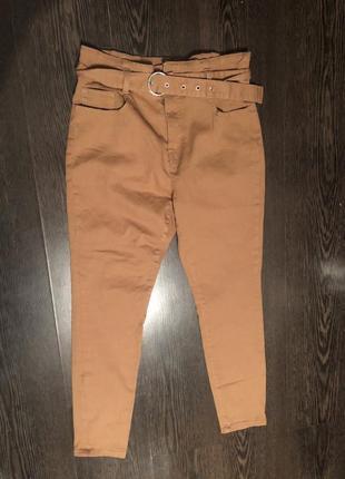 Крутые джинсы с высокой посадкой denim co