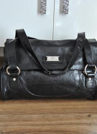 Кожаная сумка rowallan / шкіряна сумка