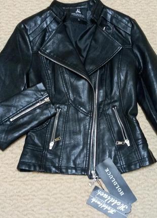 Женская куртка косуха деми кожанка