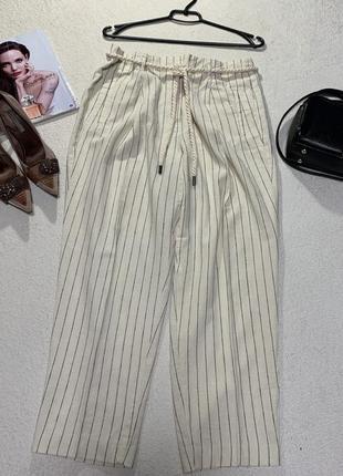 Стильные льняные брюки,размер xl