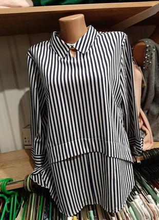 Блузка с воротником в полоску