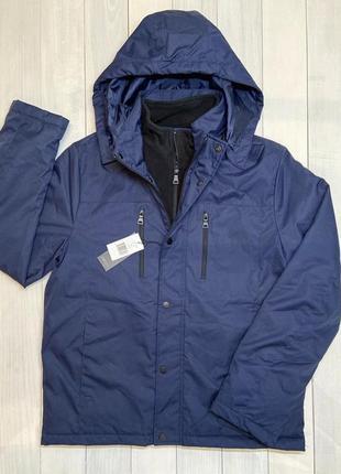 Нова синя куртка neo-i by orobos з капішоном