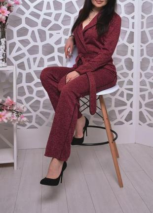 Костюм брючный деловой 🧥 rigetta бордо