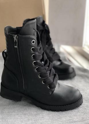 Черные демисезонные ботинки новые бренд capezio
