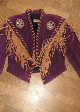 Ковбойская куртка с бахромой