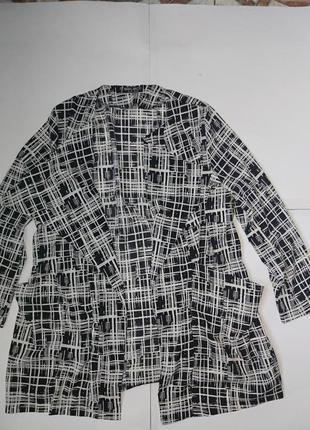 Стильный легкий кардиган,пиджак,р-р 18,можно на наш 52-56