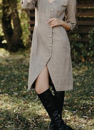 Стильное теплое платье  м,s