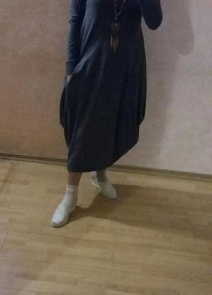 Стильное трикотажное платье-бочонок пр-во турция