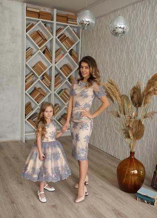 Красивейшее платье family look. все размеры!
