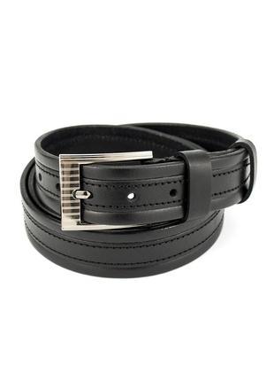 Ремень детский кожаный sf-301 black (3 см)