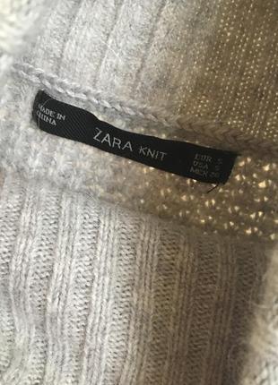 Теплий гольф zara knit3