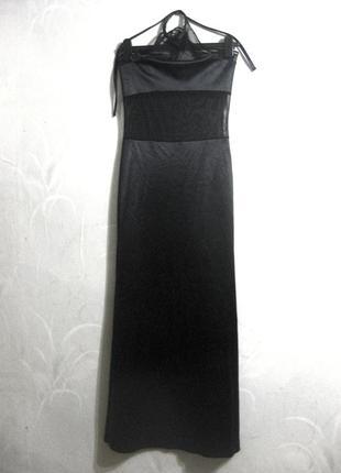 Платье arise shine of new york длинное макси чёрное сетка облегающее обтягивающее