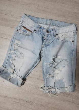 Удлинённые джинсовые шорты