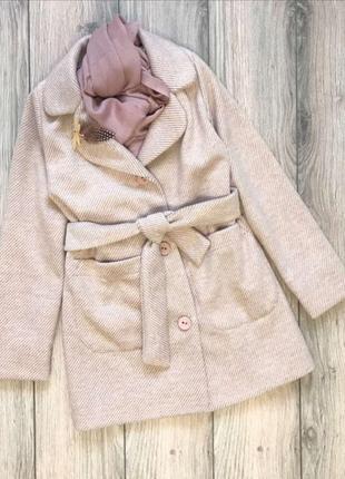 Пальто на дівчинку +шарфик в подарок