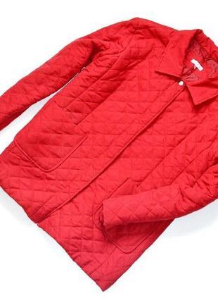 Ys collection красная легкая куртка,стеганая на кнопках