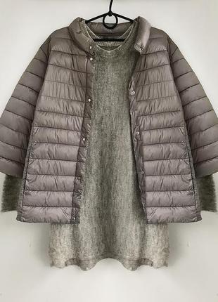 Легкая весенняя дутая куртка благородного цвета тауп, l-xl callipoe испания