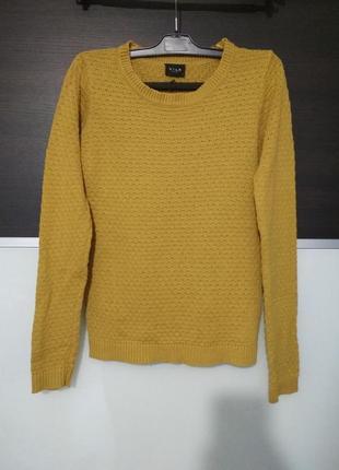 Классный джемпер,свитер тонкая вязка vila