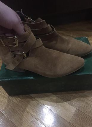 Ботинки натуральный замш полусапожки замшевые