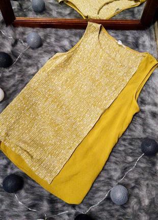 Блуза с драпировкой на запах из вискозы и льна