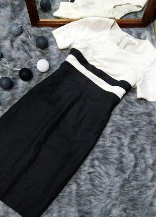 Платье футляр чехол из льна и вискозы marks & spencer