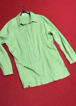 Льняная блуза-рубашка