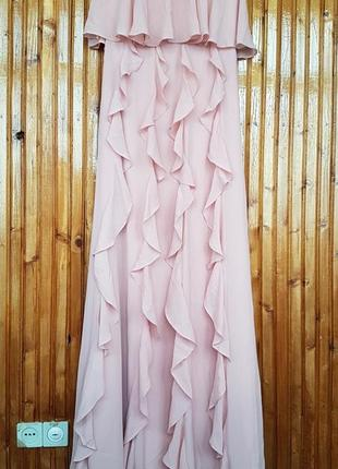 Эффектное платье бюстье h&m с воланами