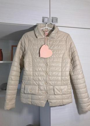 Куртка ультра легкий пуховик италия весна-осень xs-s