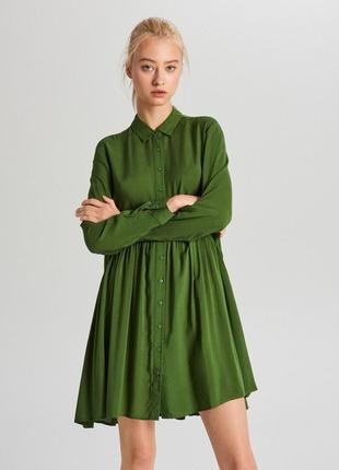 Стильное яркое платье рубашка свободного кроя