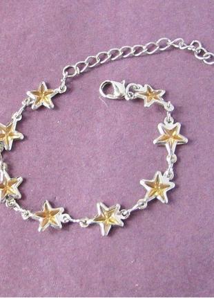 🏵стильный браслет звезды с кристаллами, новый! арт. 109532