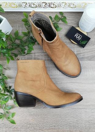 🌿38🌿европа🇪🇺 roberto santi. кожа. фирменные ботинки на удобном каблучке
