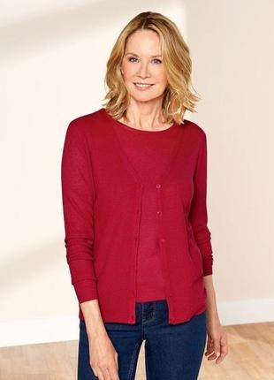 Новый женский комплект футболка + кардиган esmara германия размер евро м (40/42)