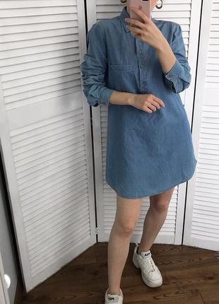 Джинсове плаття-туніка massimo dutti