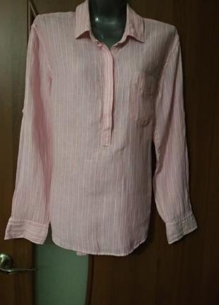 Льняная женская блуза- рубашка gap