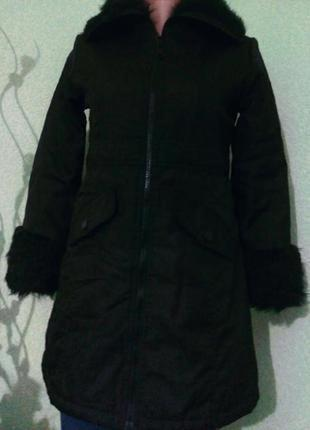 Демисезонное пальто куртка для девочки 9-10-11 лет