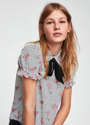 Очень красивая блуза в фламинго от zara,p. m