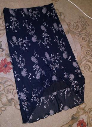 Натуральная,элегантная и женственная,длинная юбка на резинке,большого размера,elena,англия