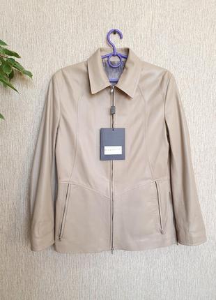Шикарная, качественная, стильная кожаная куртка от итальянского бренда helen pell, итали