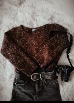 ‼️-50%‼️очень теплый вязаный свитер от karla fashion свитер оверсайз, шерстяной свитер