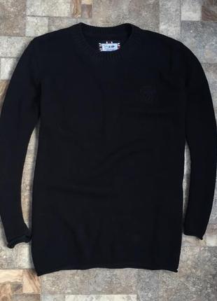Мужской удлиненный свитер