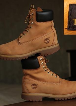 Мужские ботинки timberland mens 6-inch premium waterproof wheat nubuck boots 10061