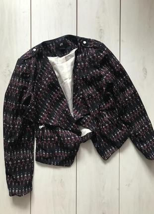 Легкий разноцветный пиджак без застежек от h&m s
