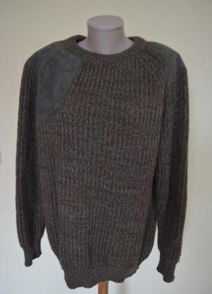 Очень теплая мужская кофта шотландская шерсть 100%