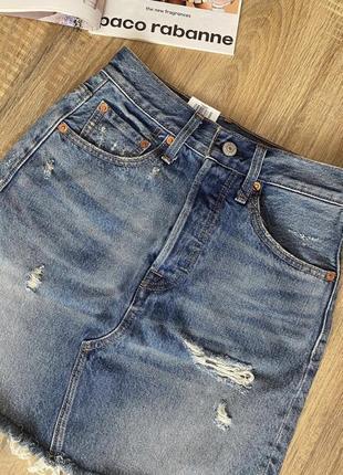 Джинсовая юбка levi's 26 размер s