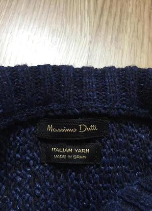Шикарный темно-синий свитер из итальянской шерсти massimo dutti3